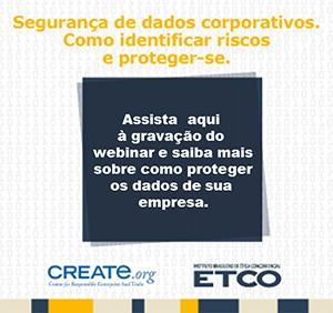 Gravação do webinar promovido pelo ETCO e a Create.org