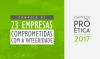 CGU divulga lista de empresas aprovadas no Pró-Ética 2017