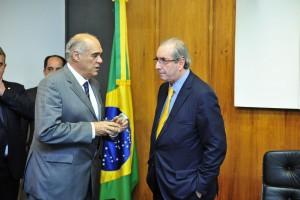 Evandro Guimarães, presidente do ETCO e Eduardo Cunha (PMDB-RJ), presidente da Cãmara dos Deputados