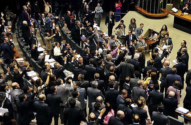 Deputados aprovaram emenda que permite a terceirização de qualquer setor de uma empresa privada. Foto: Luis Macedo/Câmara dos Deputados