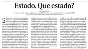 Imagem artigo ESTADO QUE ESTADO