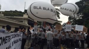 Manifestantes protestam contra o contrabando em São Paulo; Crédito: Joyce Ribeiro - CBN