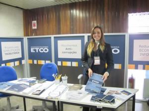 O estande do ETCO no evento: parceria com administradores tributários