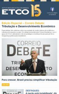 Newsletter ETCO Especial Tributação e Desenvolvimento