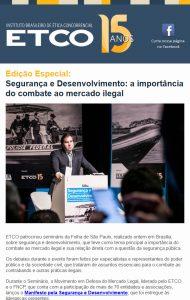 Newsletter ETCO Especial Segurança e Desenvolvimento