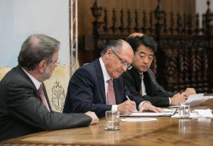 O Governador de São Paulo, Geraldo Alckmin, participa de assinatura do encaminhamento do projeto de lei para melhorar o ambiente de nogócios. Data: 13/09/2017. Local: São Paulo/SP. Foto: Gilberto Marques/A2img